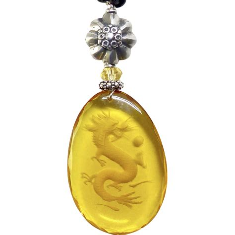 etched glass pendant necklace from