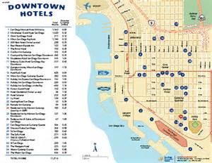San Diego Hotel Map by Downtown San Diego Tourist Map San Diego Ca Mappery