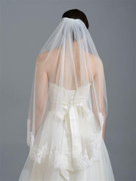 Wedding Veil by Ivory Alencon Lace Wedding Veil V038