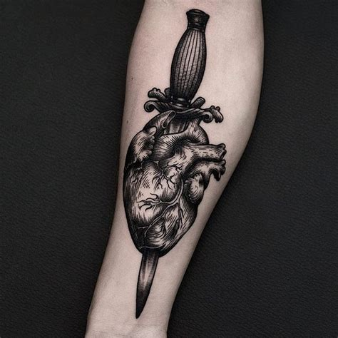 heart and dagger tattoo designs best 25 human ideas on human