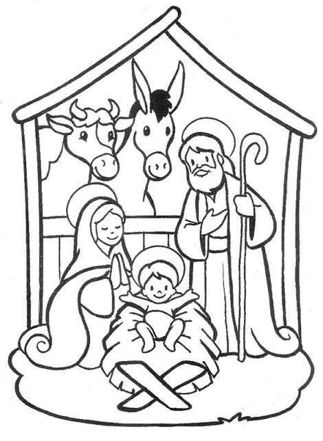 nativity scene coloring pages coloring pages