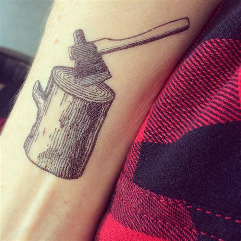 axe tattoo tattly ax log tattoos for lumberjacks declan