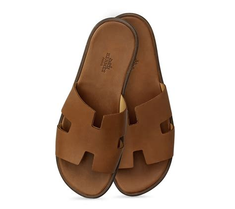 hermes slippers herm 232 s izmir in gold for lyst