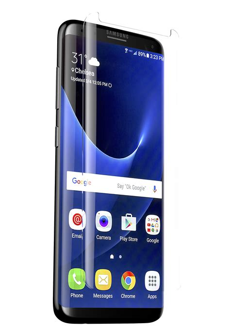 zagg glass curve screen protector for samsung galaxy s8 plus friendly coverage for curved