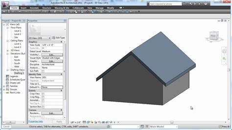 tutorial revit roof revit 2011 roof basics 01 gable cadclip youtube