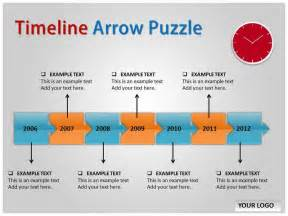 timeline presentation template free timeline arrow puzzle chart powerpoint templates and