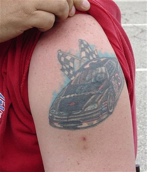 racing flag tattoo designs racing car on arm