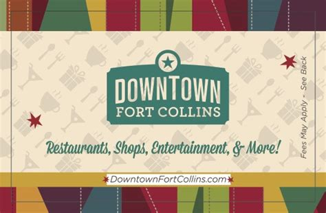 Downtown Fort Collins Gift Card - dba downtown fort collins
