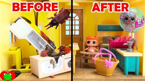 doll house makeover lol surprise doll house makeover youtube