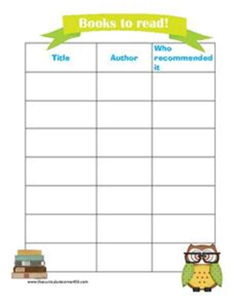 books i ve read list template books to read 1st 8th grade printables template