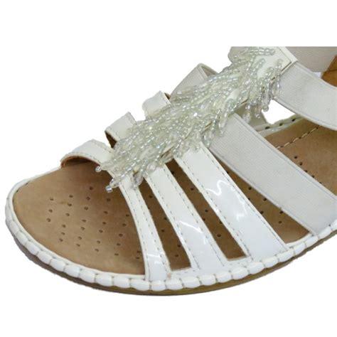 Azm Best Seller Sandal Ricis White Expert wide fit comfort shoes uk style guru fashion glitz style unplugged