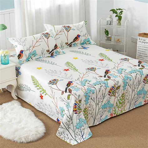 pattern queen flat sheet floral bird pattern flat sheet 100 cotton bed sheet for