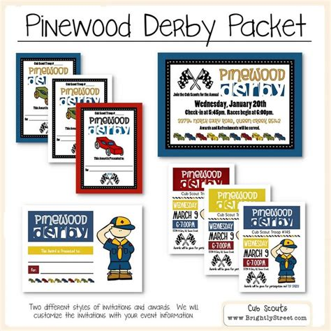 cub scout advancement card templates packmaster cub scouts pinewood derby invitations and awards scouts