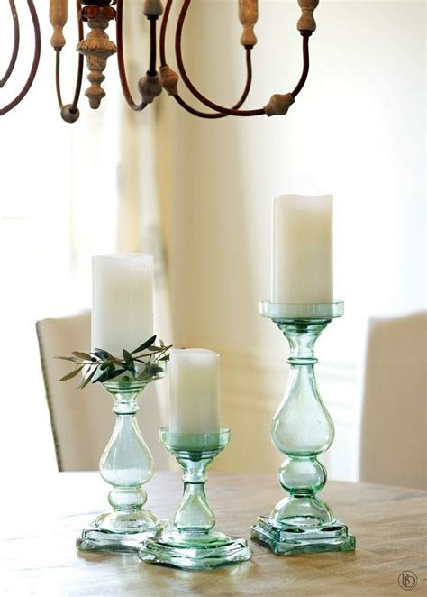 Chunky Candlestick Holders Chunky Blue Glass Candle Holders D 233 Cor