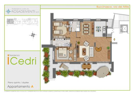 3d Home Builder piantine colorate arredate per la vendita di immobili