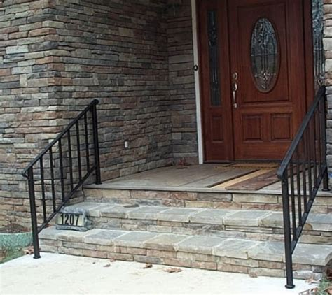Outdoor Banisters And Railings by Exterior Handrails Wrought Iron Exterior Railings Zen