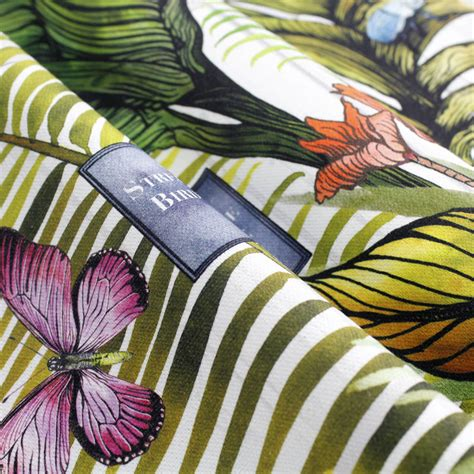 glasshouse tropical botanical print wallpaper by terrarium tropical glasshouse botanical print fabric by terrarium
