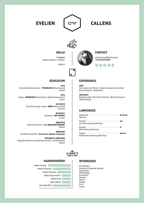 resume on behance