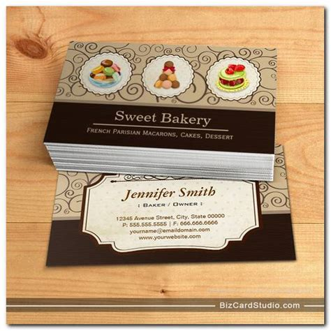 The Royal Store Business Card Template by Custom Parisian Macarons Dessert Bake Store