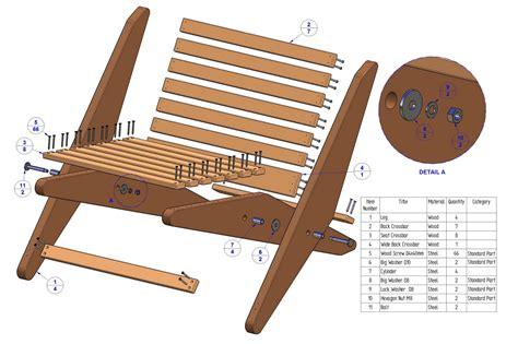folding chair plan