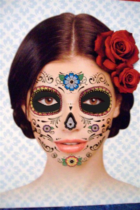 sugar skull face tattoo day of the dead sugar skull costume mask