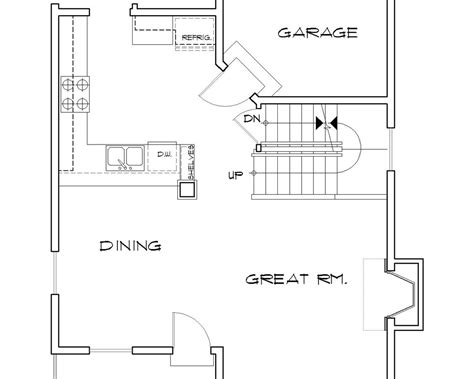 basement floor plans with stairs in middle house plan b2157l the ballard