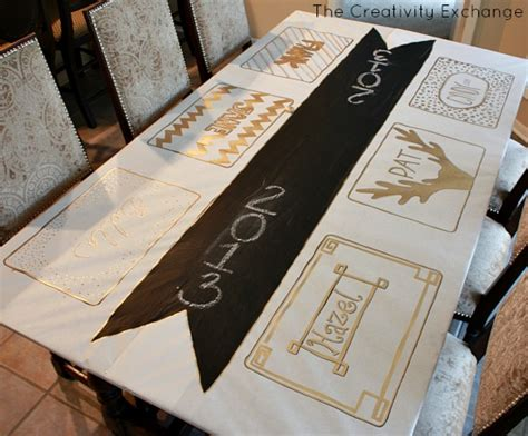 new year table cloths diy festive butcher paper tablecloth happy new year