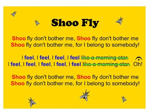 Shoo Fast the 25 best shoo fly song ideas on learn 2