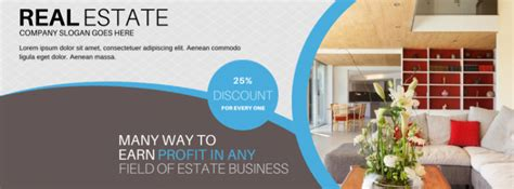 Cover Design Real Estate   100 editable facebook covers for a business marketing