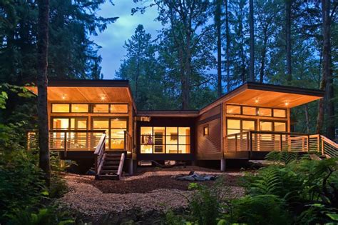 Method Homes Completes Traditional Craftsman Style Doe Bay Prefab Cottage Homes