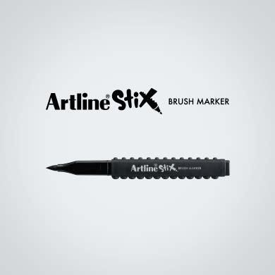 Artline Spidol Brush Tip Drawing Dan Colouring artline 174 stix brush marker etx f new era enterprises