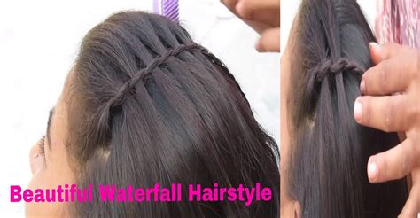 waterfall hairstyle step by step beautiful waterfall hairstyle step by step process live