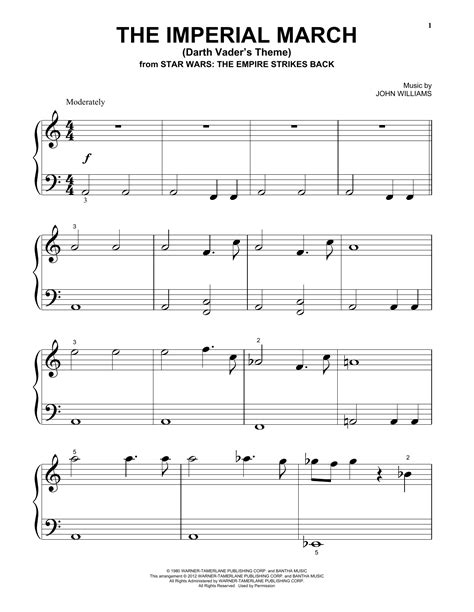 piano tutorial imperial march the imperial march darth vader s theme sheet music by