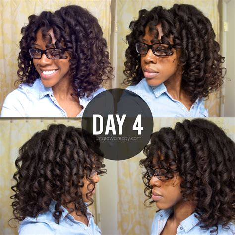 flexi rod hairstyles relaxed hair three cheers for pineappling day 4 flexi rod curls