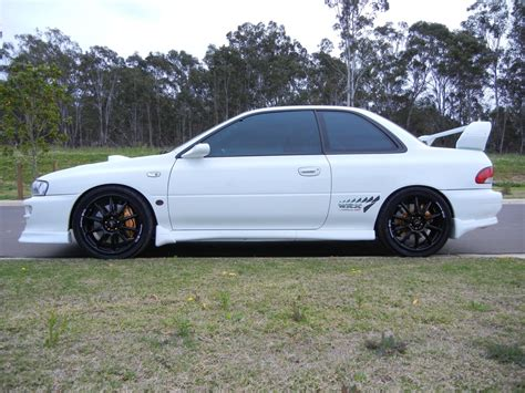subaru gc8 white 1998 subaru impreza sti version 5 coupe boostcruising