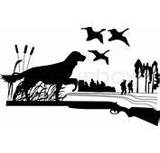Hunde Duck Hunt Art Ist Ein Vektor Das  Vektorgrafik