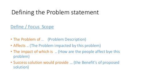 design statement definition problem statement and design solution