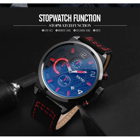 Jam Tangan Pria Adidas Kulit skmei jam tangan analog pria 9149cl black white jakartanotebook