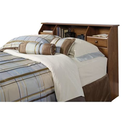bookcase headboard queen full queen bookcase headboard in oak 410847