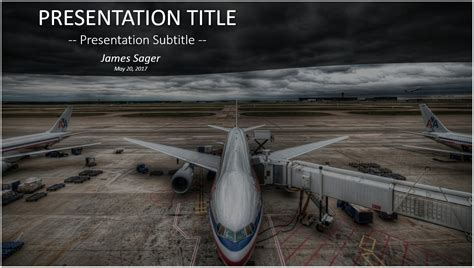 Free Airplane Powerpoint 23619 Sagefox Powerpoint Airport Ppt Template Free