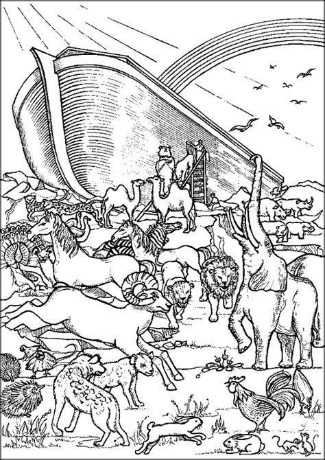 coloring pages for noah s ark free coloring pages of noah ark children