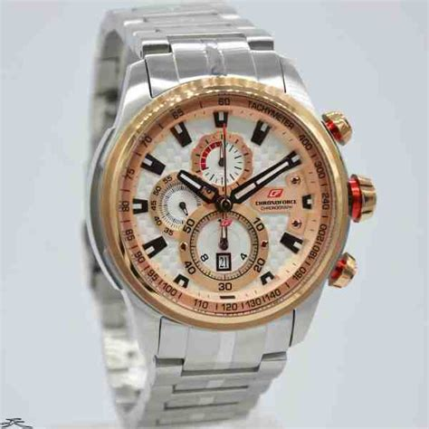 Chronoforce Black White Original jual jam tangan pria chronoforce 5268msr silver rosegold