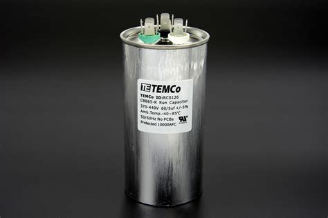 12uf run capacitor temco 60 5 mfd uf dual run capacitor 370 440 vac volts ac motor hvac 60 5