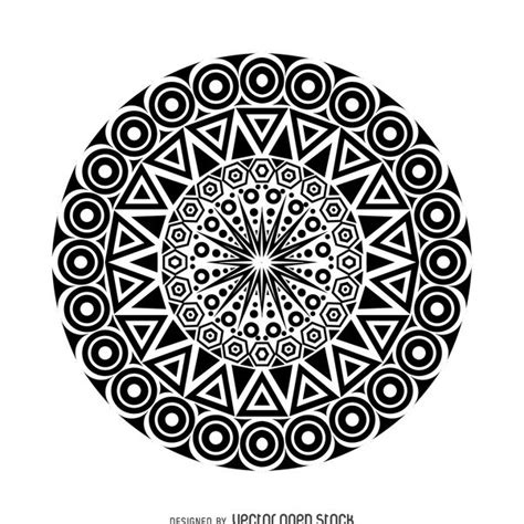tribal mandala design free vector download 367905 cannypic
