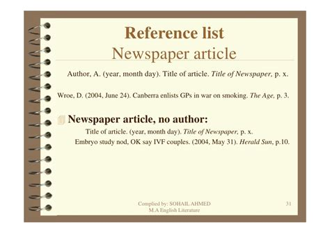 apa format newspaper article apa style referencing by sohail ahmed