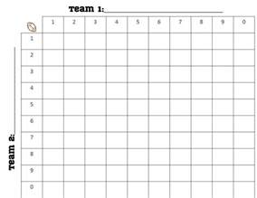 Football Square Board Template by Printable 100 Square Football Board Search Engine