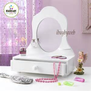 Children S Play Vanity Table Kidkraft 78110 White Table Top Vanity Mirror W