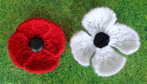 free pattern for knitted poppies hippystitch poppies in the park knitting patterns