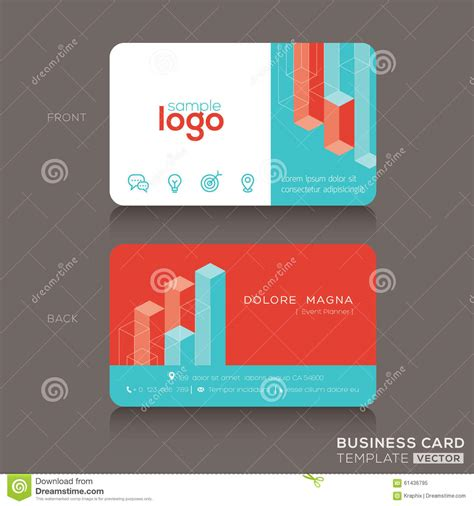 trendy business cards templates trendy business card vector cartoondealer
