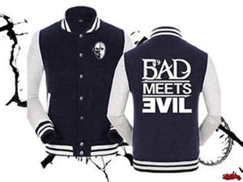 unisex eminem bad meets evil baseball jacket slim shady sweatshirt hoodie coat